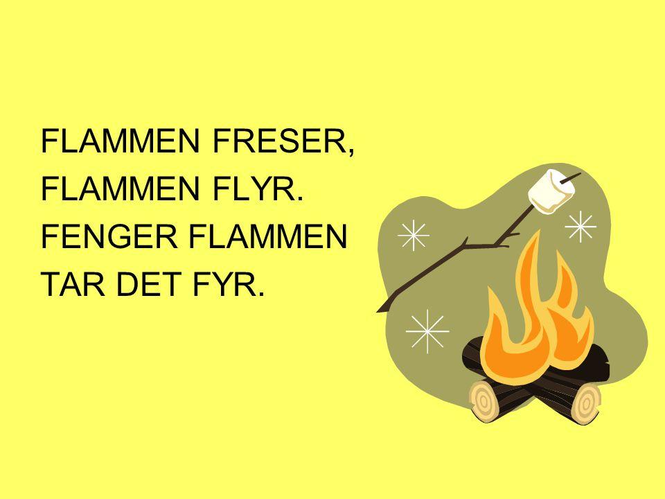 FLAMMEN FRESER, FLAMMEN FLYR. FENGER FLAMMEN TAR DET FYR.