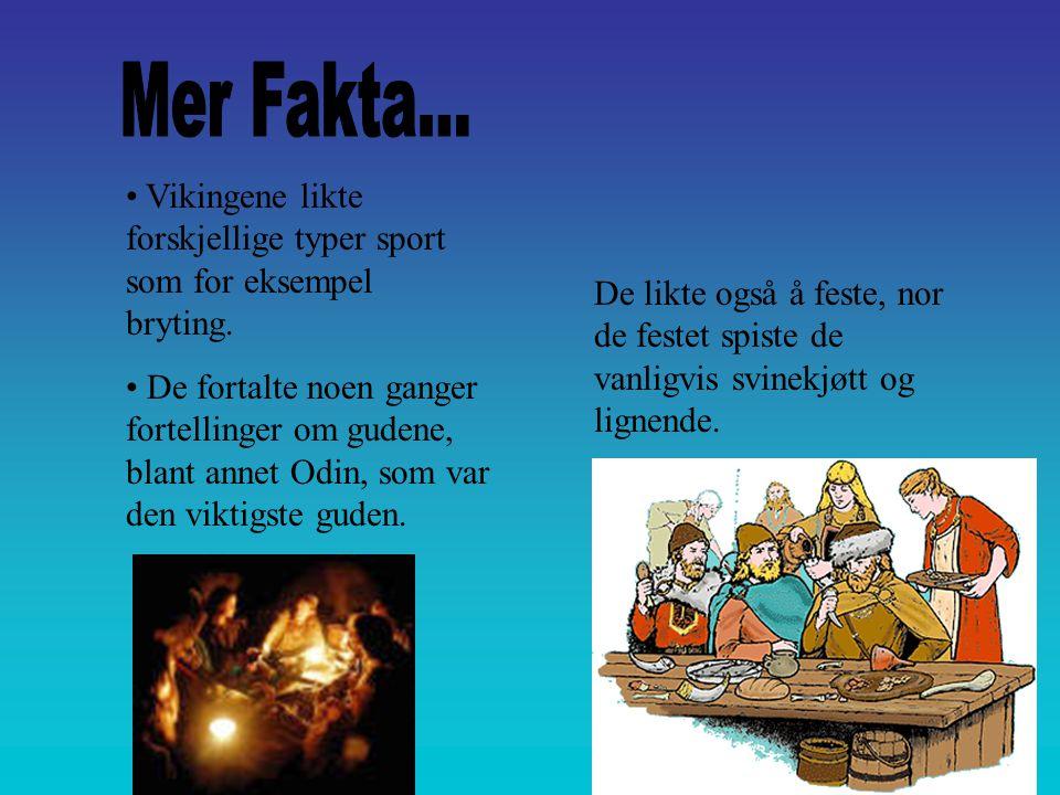 Mer Fakta... Vikingene likte forskjellige typer sport som for eksempel bryting.
