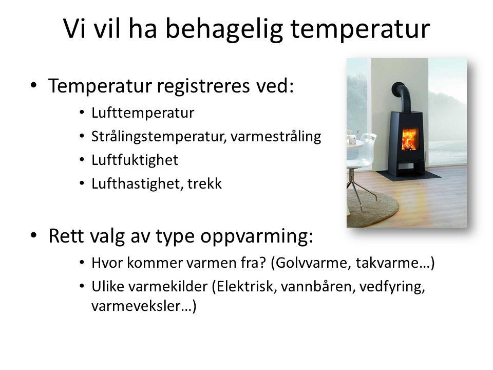 Vi vil ha behagelig temperatur
