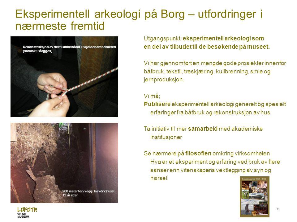 Eksperimentell arkeologi på Borg – utfordringer i nærmeste fremtid