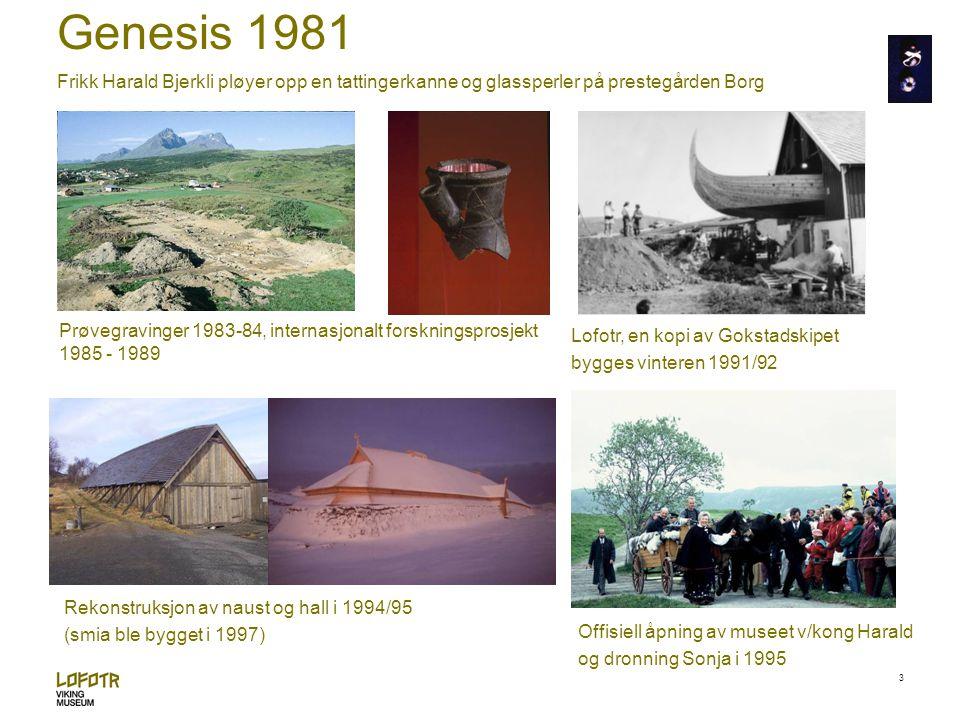 Genesis 1981 Frikk Harald Bjerkli pløyer opp en tattingerkanne og glassperler på prestegården Borg