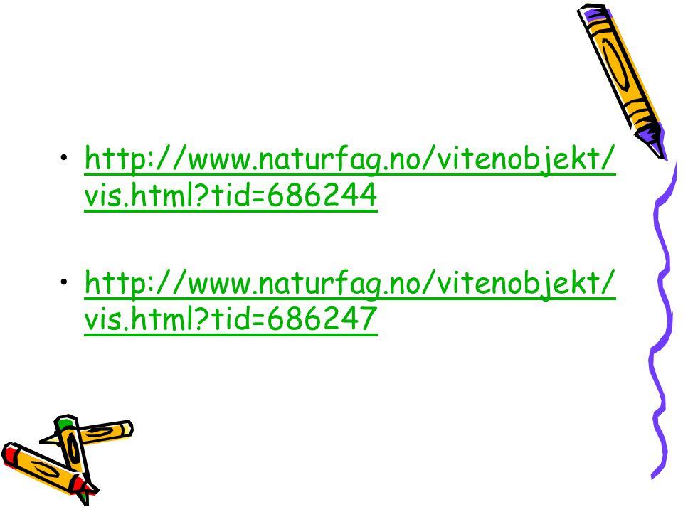 http://www.naturfag.no/vitenobjekt/vis.html tid=686244 http://www.naturfag.no/vitenobjekt/vis.html tid=686247.