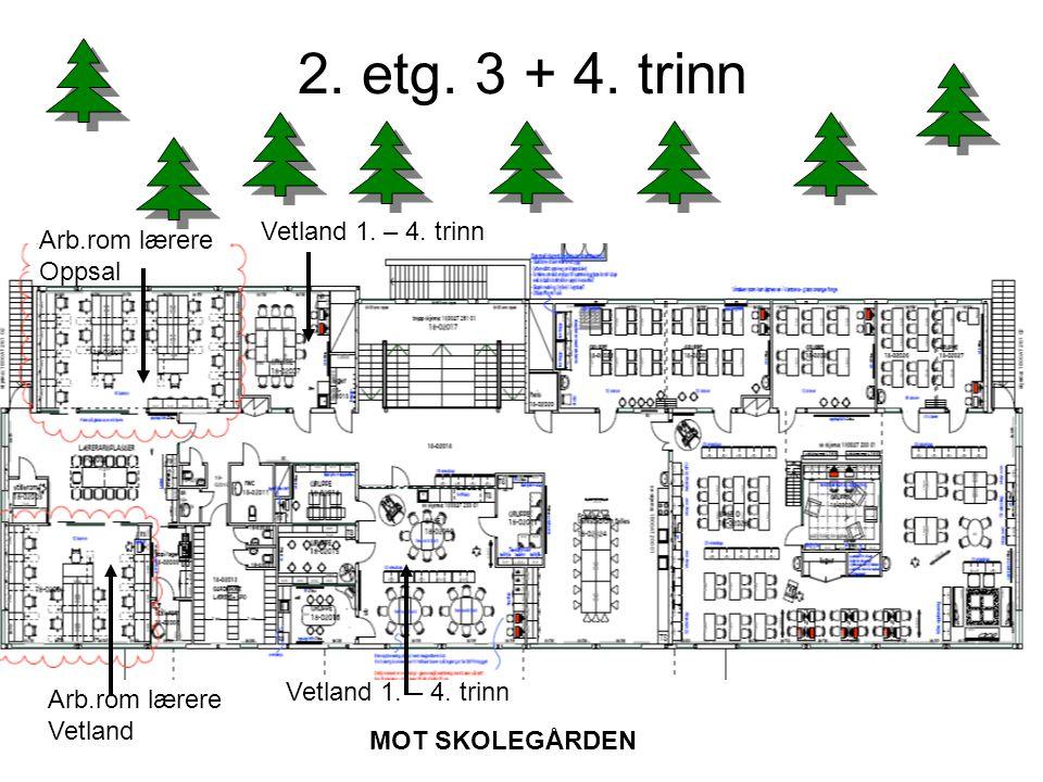 2. etg. 3 + 4. trinn Vetland 1. – 4. trinn Arb.rom lærere Oppsal