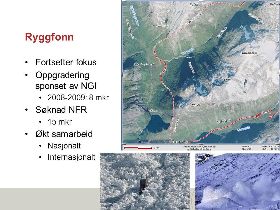 Ryggfonn Fortsetter fokus Oppgradering sponset av NGI Søknad NFR