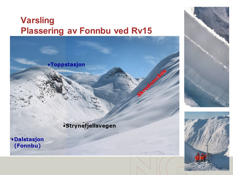 Varsling Plassering av Fonnbu ved Rv15