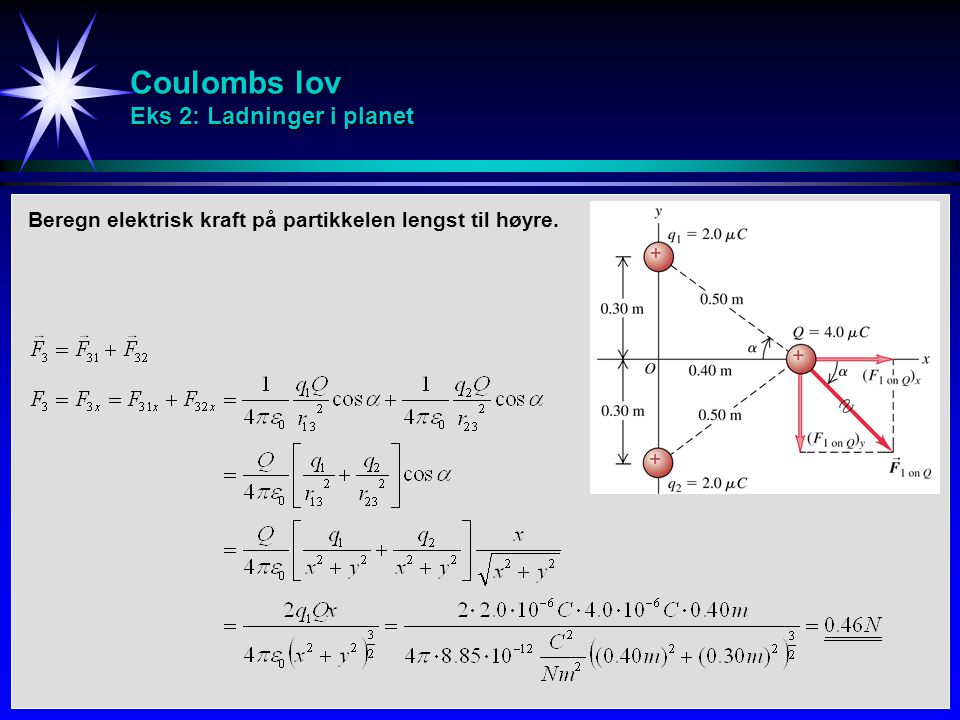 Coulombs lov Eks 2: Ladninger i planet
