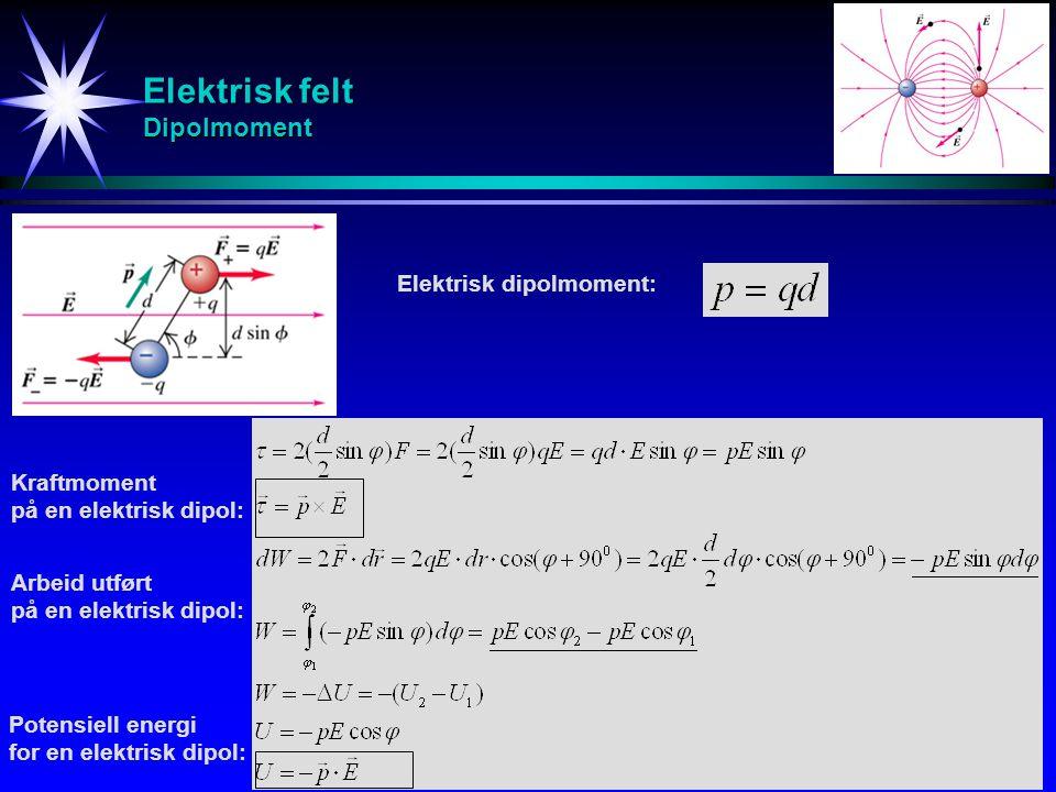 Elektrisk felt Dipolmoment