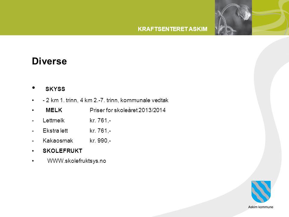 Diverse SKYSS - 2 km 1. trinn, 4 km 2.-7. trinn, kommunale vedtak