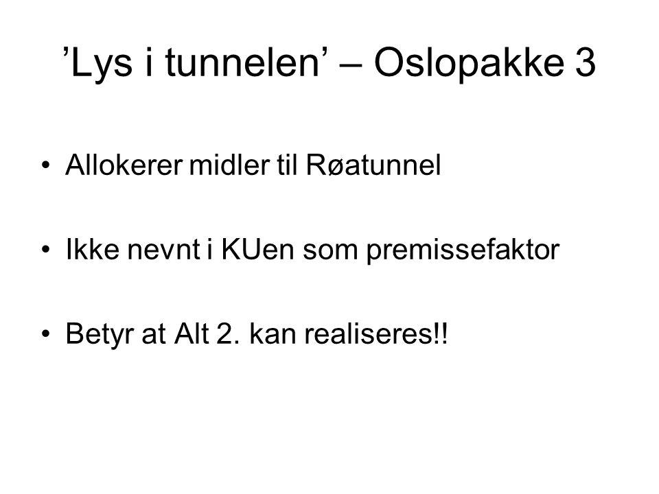 'Lys i tunnelen' – Oslopakke 3