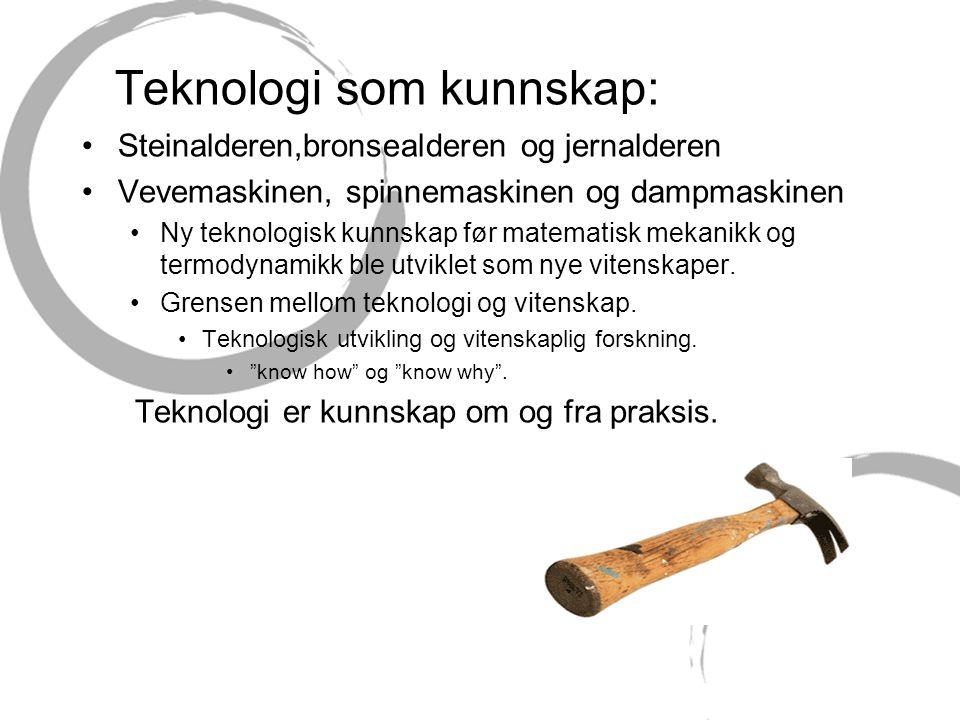 Teknologi som kunnskap: