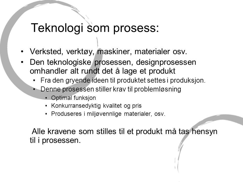 Teknologi som prosess: