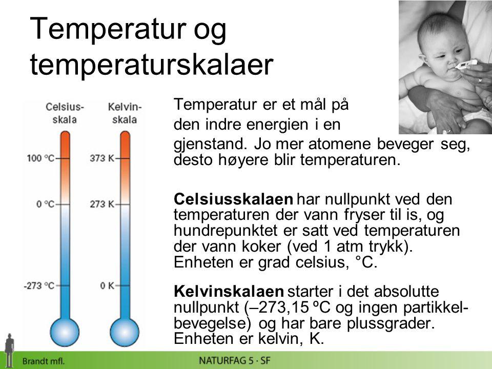 Temperatur og temperaturskalaer