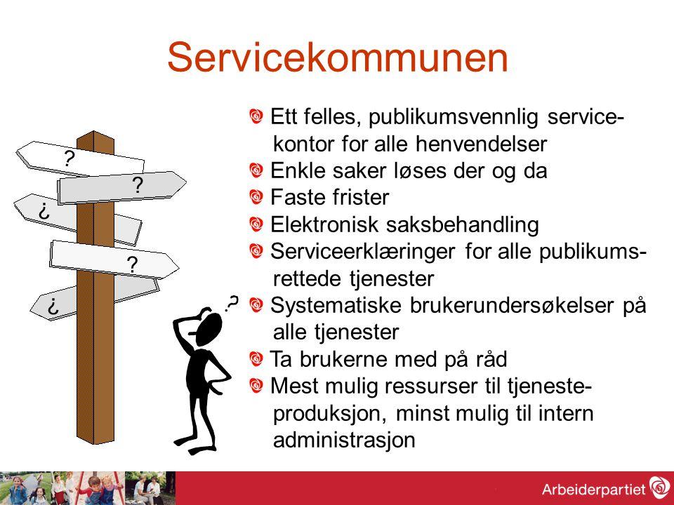Servicekommunen Ett felles, publikumsvennlig service-