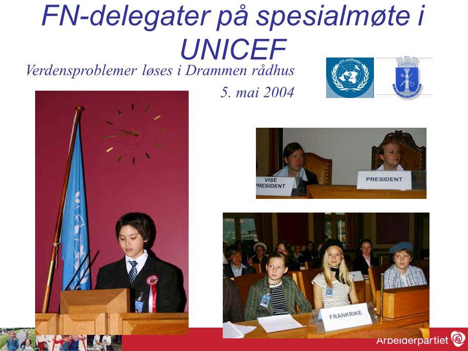 FN-delegater på spesialmøte i UNICEF