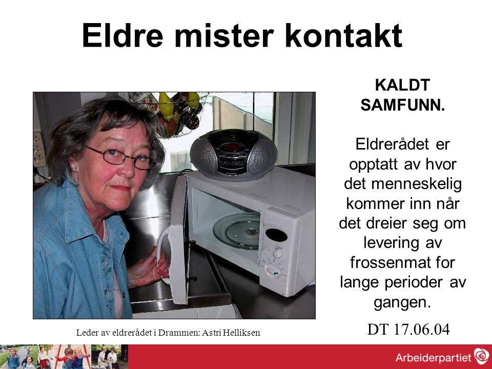 - Det er svært mange ensomme eldre rundt omkring i Drammen.