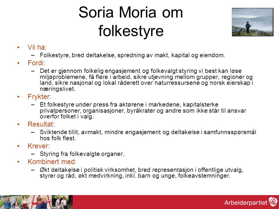 Soria Moria om folkestyre