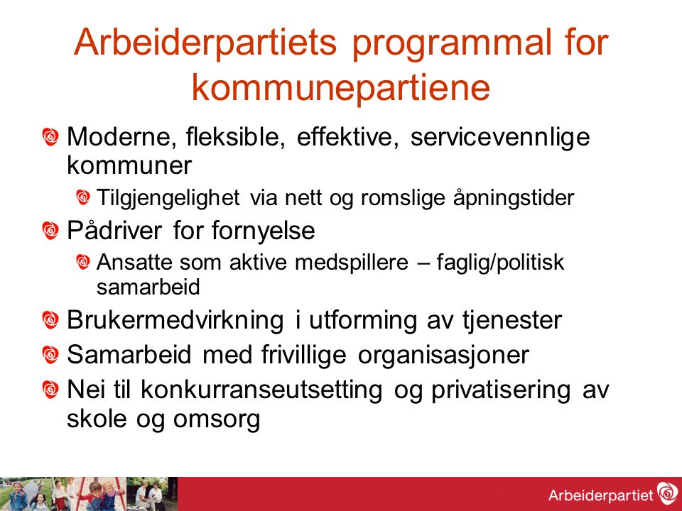 Arbeiderpartiets programmal for kommunepartiene