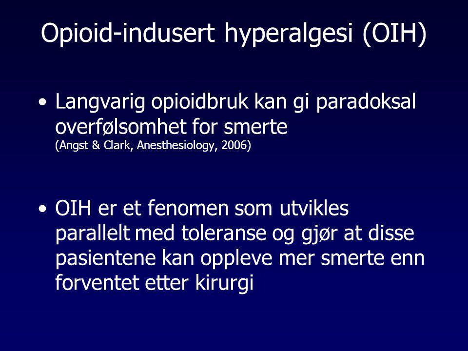 Opioid-indusert hyperalgesi (OIH)