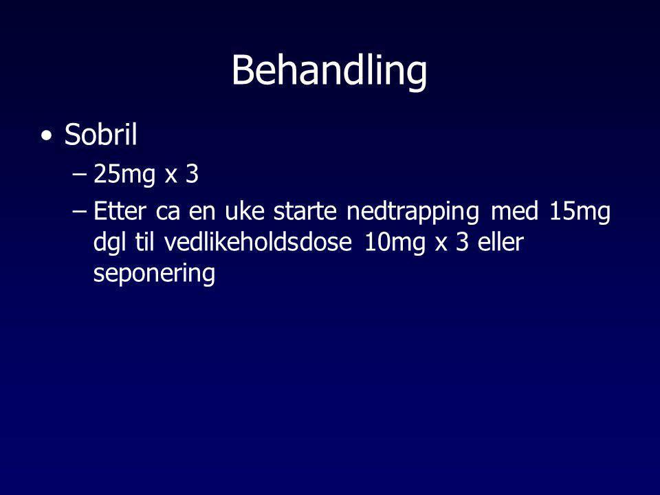 Behandling Sobril. 25mg x 3.