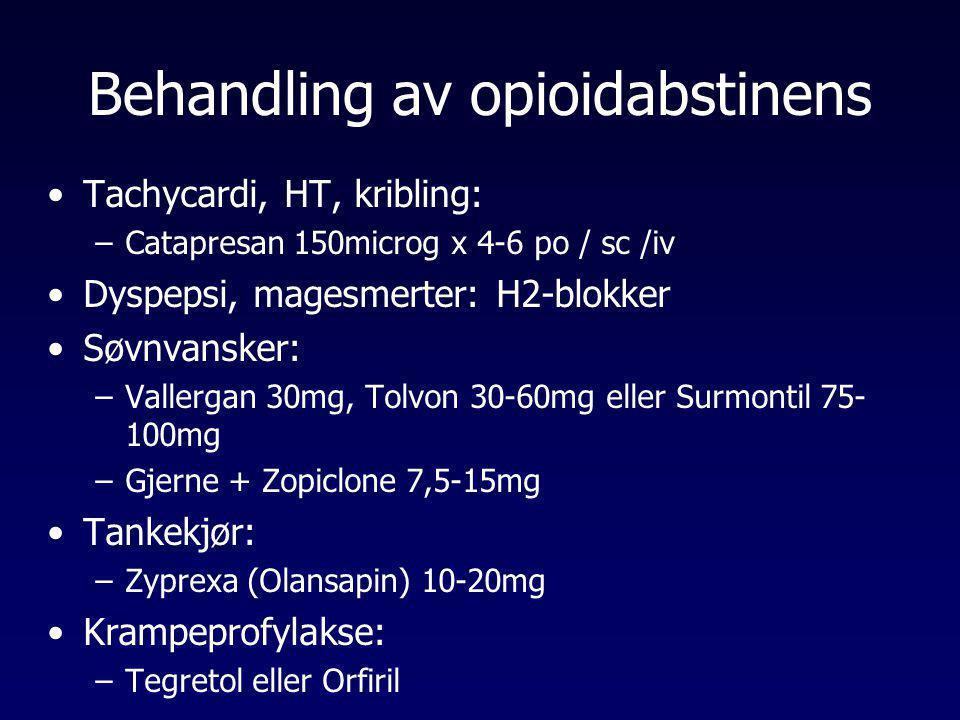 Behandling av opioidabstinens