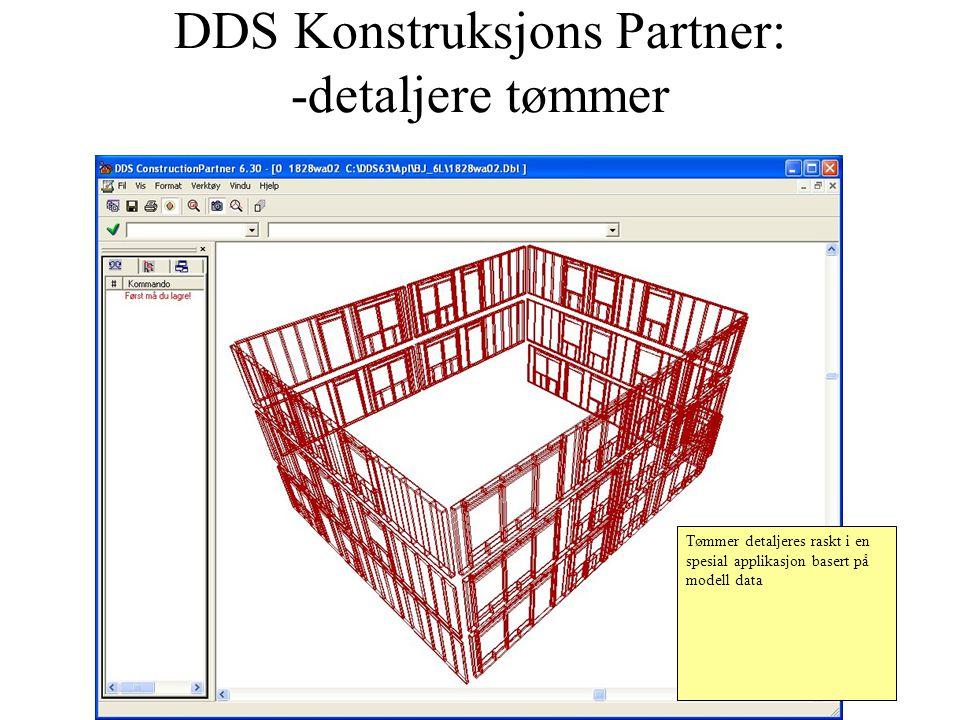 DDS Konstruksjons Partner: -detaljere tømmer