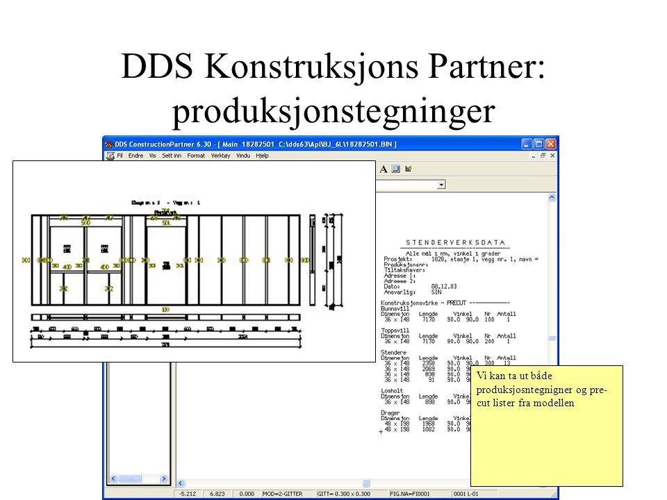 DDS Konstruksjons Partner: produksjonstegninger