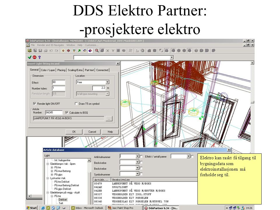 DDS Elektro Partner: -prosjektere elektro