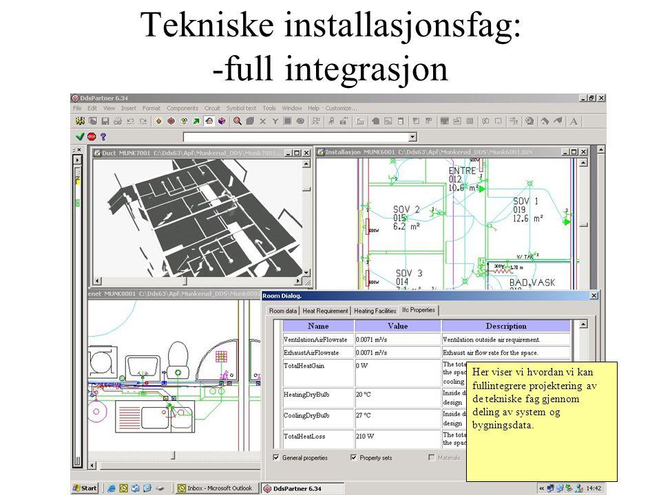 Tekniske installasjonsfag: -full integrasjon