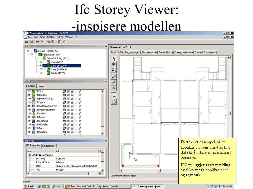 Ifc Storey Viewer: -inspisere modellen