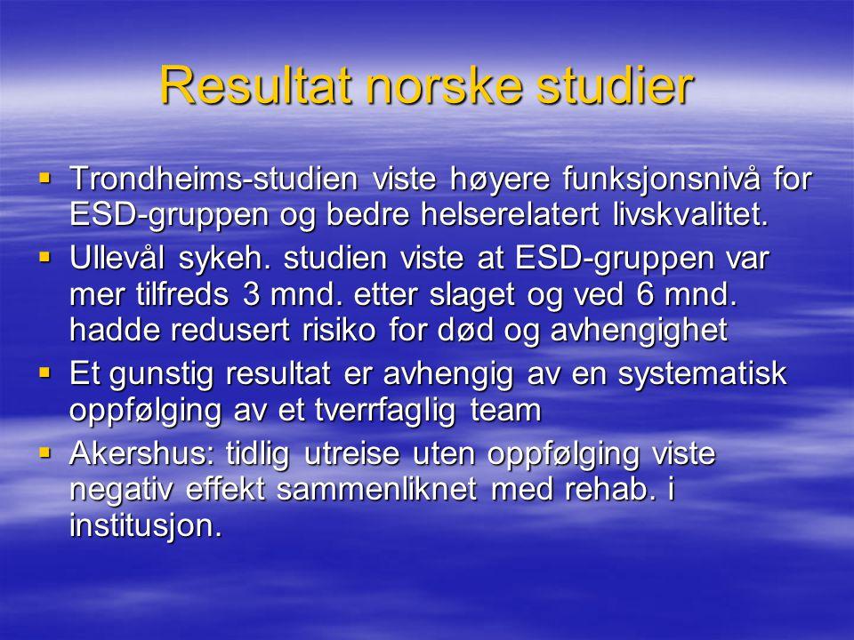 Resultat norske studier