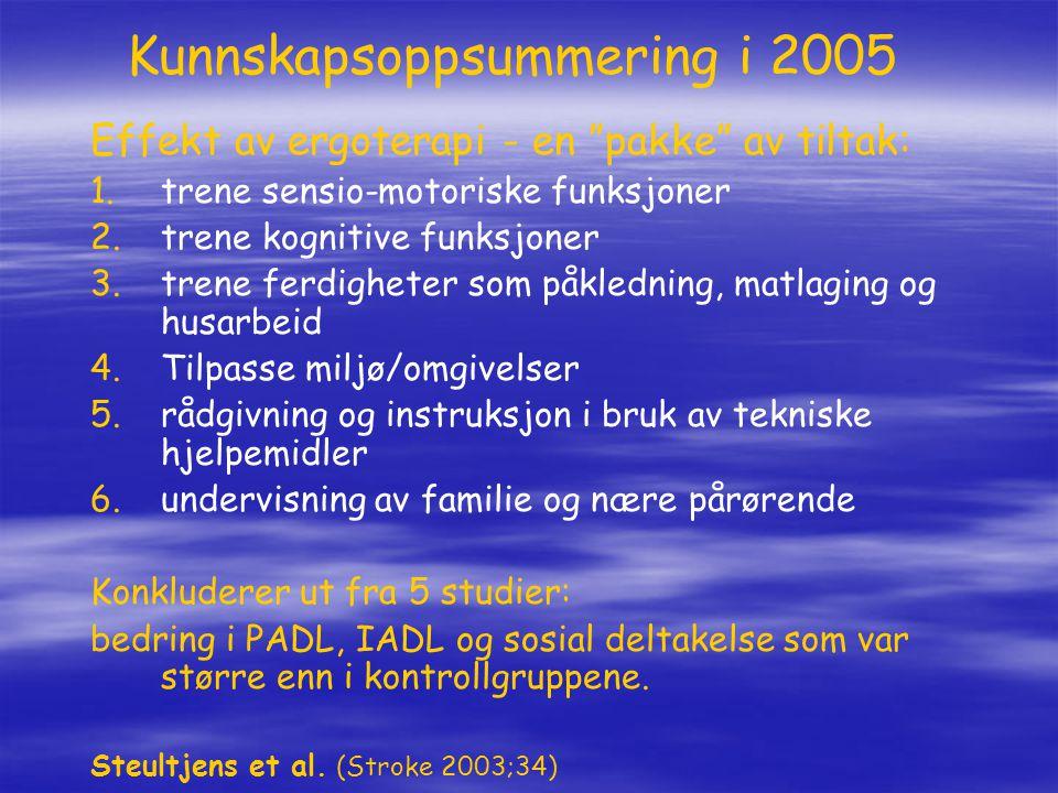 Kunnskapsoppsummering i 2005