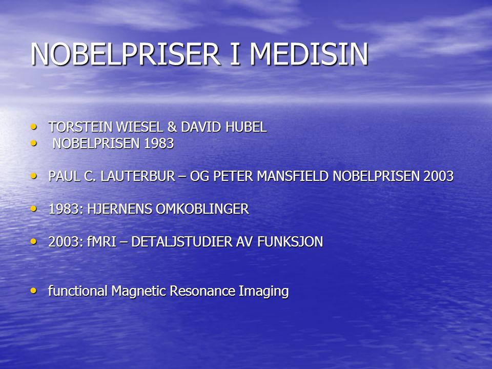 NOBELPRISER I MEDISIN TORSTEIN WIESEL & DAVID HUBEL NOBELPRISEN 1983