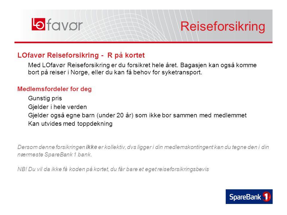 Reiseforsikring LOfavør Reiseforsikring - R på kortet