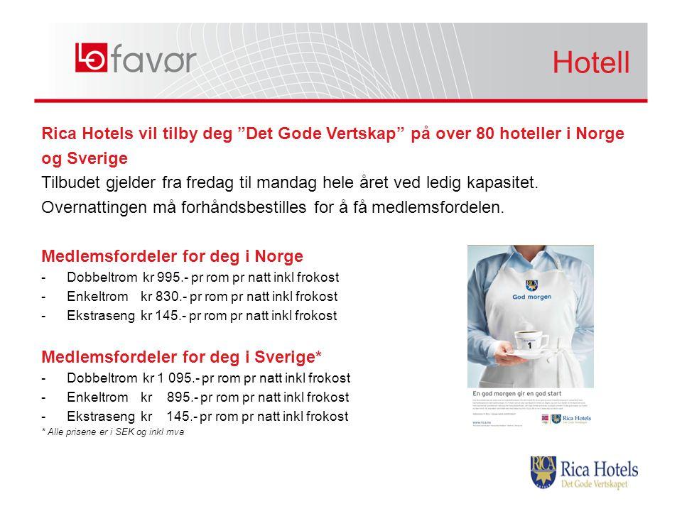 Hotell Hotell. Rica Hotels vil tilby deg Det Gode Vertskap på over 80 hoteller i Norge. og Sverige.