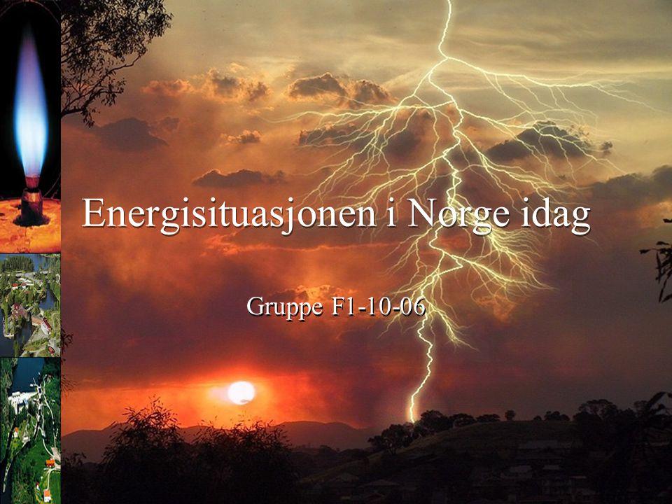 Energisituasjonen i Norge idag