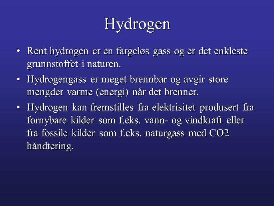 Hydrogen Rent hydrogen er en fargeløs gass og er det enkleste grunnstoffet i naturen.