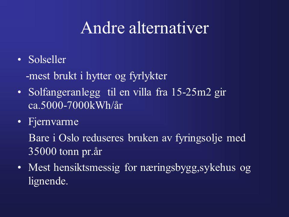 Andre alternativer Solseller -mest brukt i hytter og fyrlykter