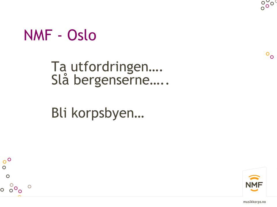 NMF - Oslo Ta utfordringen…. Slå bergenserne….. Bli korpsbyen…