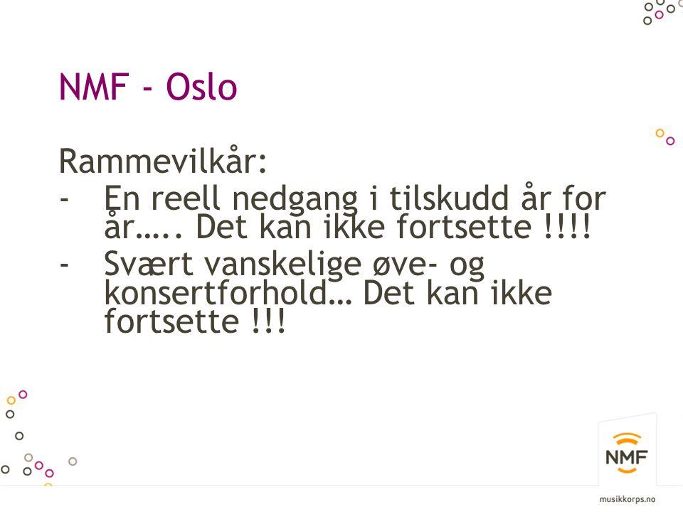 NMF - Oslo Rammevilkår: