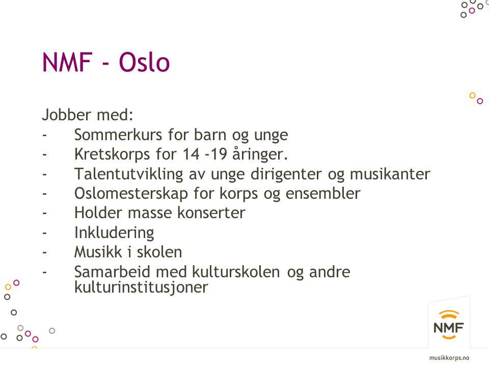 NMF - Oslo Jobber med: Sommerkurs for barn og unge