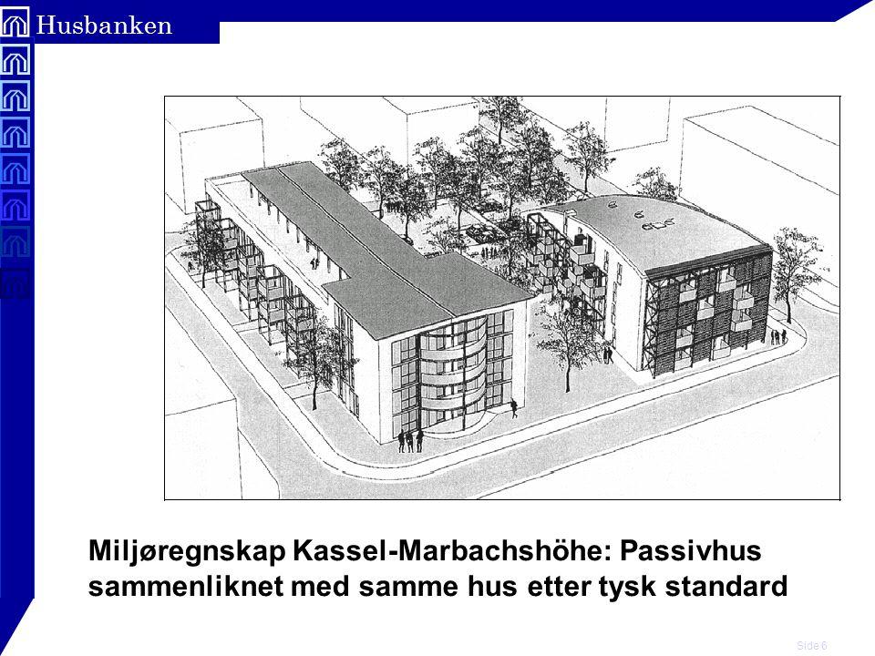 Miljøregnskap Kassel-Marbachshöhe: Passivhus sammenliknet med samme hus etter tysk standard