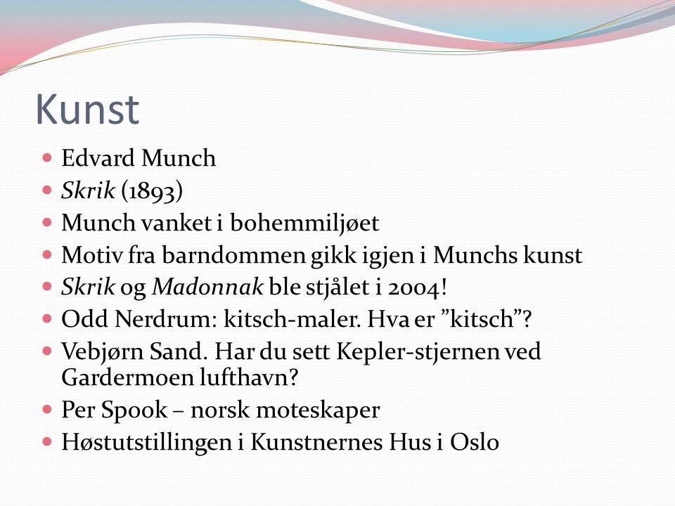 Kunst Edvard Munch Skrik (1893) Munch vanket i bohemmiljøet