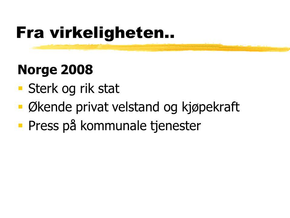 Fra virkeligheten.. Norge 2008 Sterk og rik stat