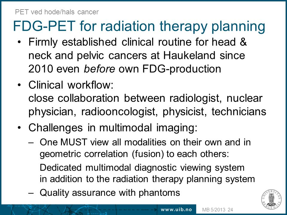 FDG-PET for radiation therapy planning