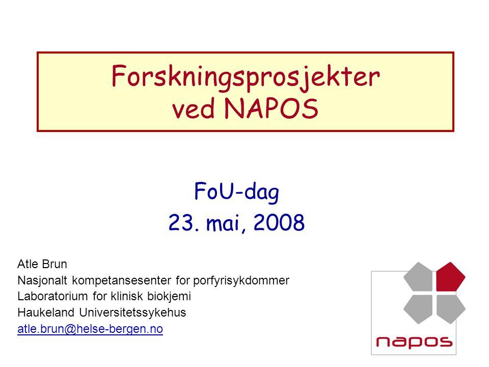 Forskningsprosjekter ved NAPOS