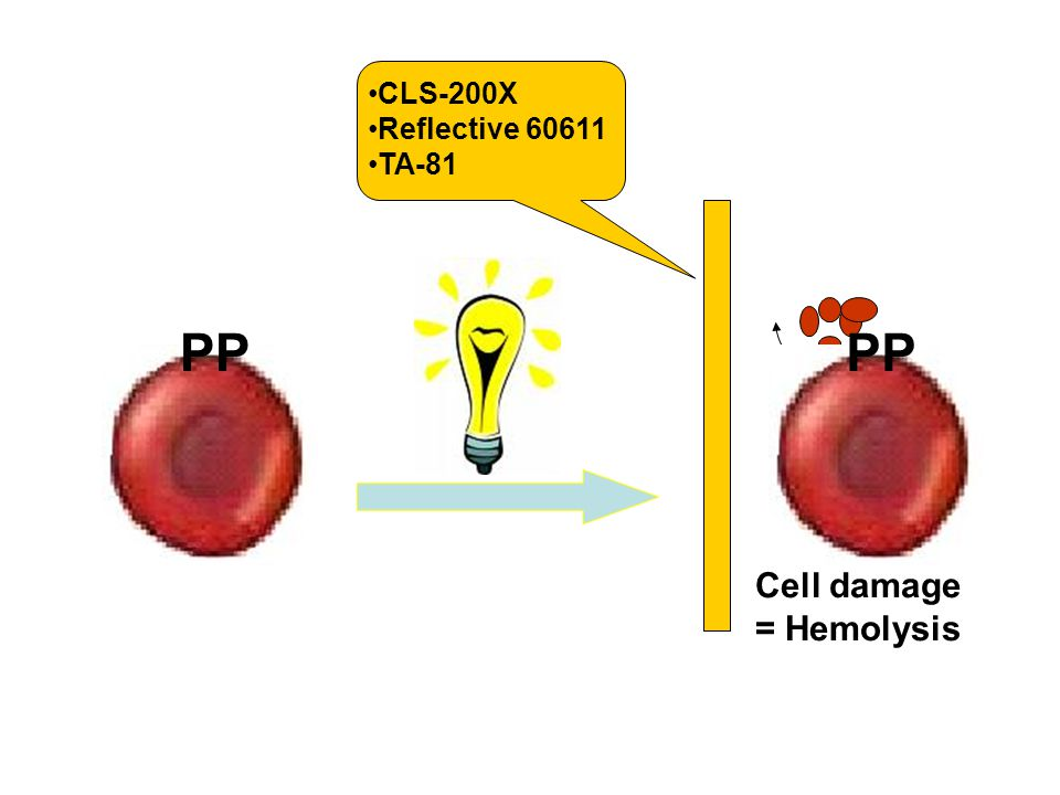 PP PP Hb Cell damage = Hemolysis CLS-200X Reflective 60611 TA-81