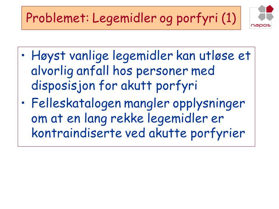 Problemet: Legemidler og porfyri (1)