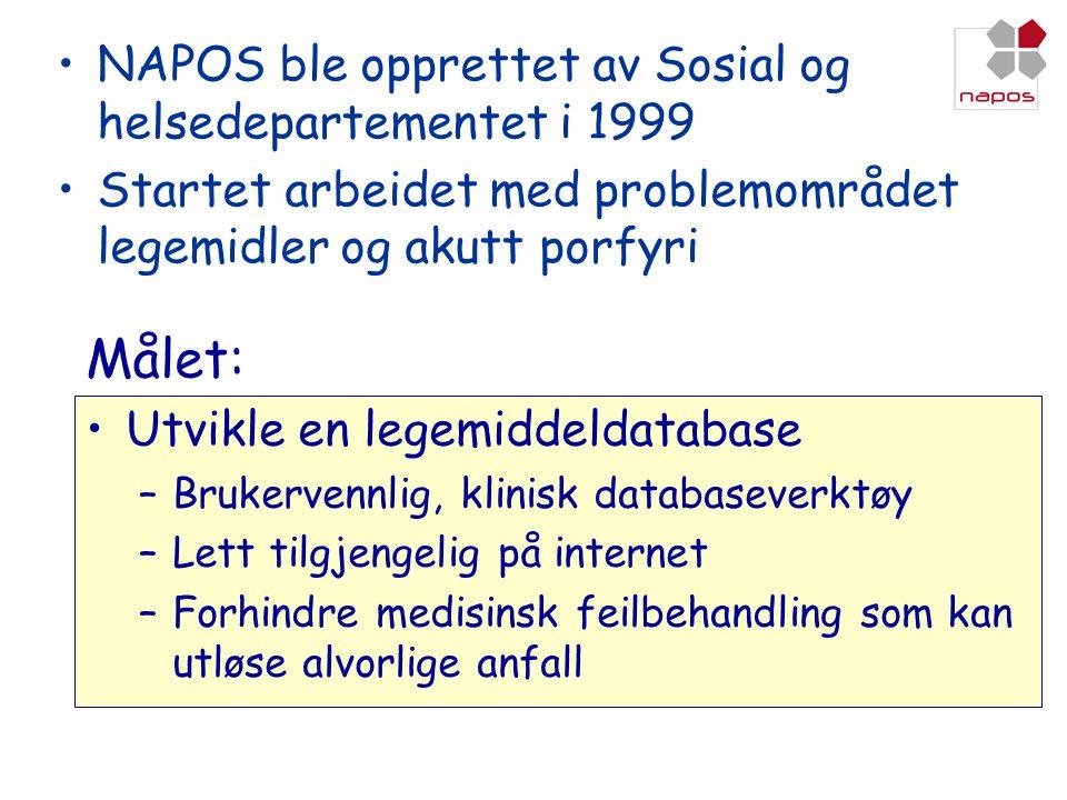 Målet: NAPOS ble opprettet av Sosial og helsedepartementet i 1999