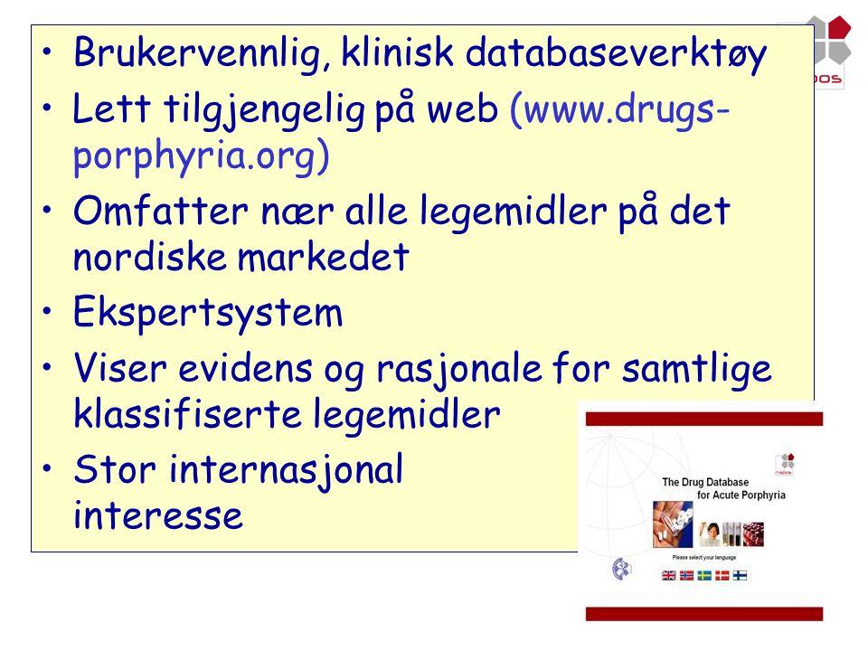 Brukervennlig, klinisk databaseverktøy
