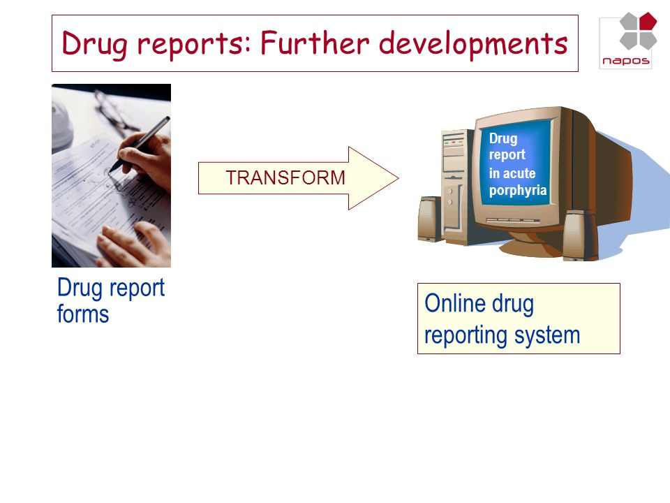Drug reports: Further developments
